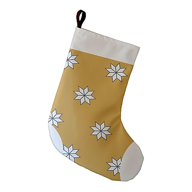 The Holiday Aisle Holiday Wishes Christmass Stars 1 Decorative Holiday Geometric Print Stocking