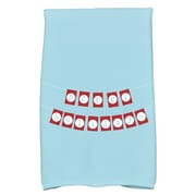 The Holiday Aisle Happy Holidays Banner Hand Towel; Light Blue