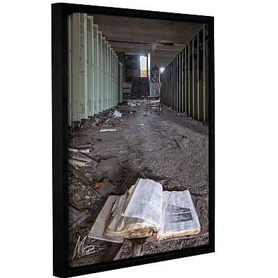 Williston Forge 'Abandoned School 4' Framed Photographic Print on Canvas; 18'' H x 14'' W x 0.1'' D