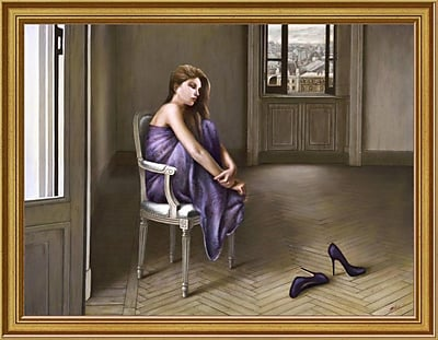 East Urban Home 'Morning' Framed Oil Painting Print; 9'' H x 12'' W
