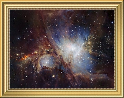 East Urban Home 'Deep Infrared View of the Orion Nebula from HAWK-I' Framed Graphic Art Print