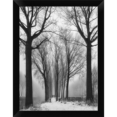 East Urban Home 'Then Winter Comes' Framed Photographic Print; 12'' H x 9'' W