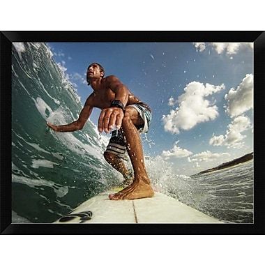 East Urban Home 'Surfer' Framed Photographic Print; 11'' H x 14'' W
