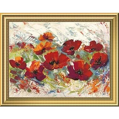 East Urban Home 'Papaveri' Framed Oil Painting Print; 11'' H x 14'' W