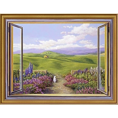 East Urban Home 'Paesaggio Toscano' Framed Oil Painting Print; 12'' H x 16'' W