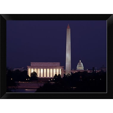 East Urban Home 'Our Treasured Monuments at Night Washington D.C' Framed Photographic Print