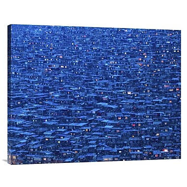 Global Gallery 'Dwelling' by Shu-Guang Yang Photographic Print on Wrapped Canvas