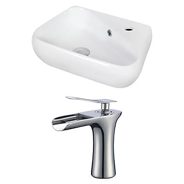 Jade Bath Above Counter Rectangular Vessel Bathroom Sink