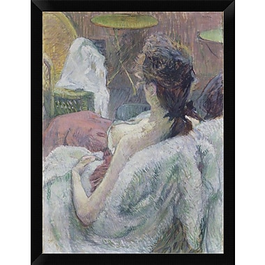 East Urban Home 'The Model Resting' Framed Oil Painting Print; 16'' H x 12'' W