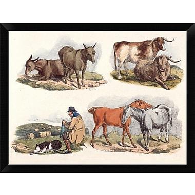 East Urban Home 'Knitting Shepherd 1817' Framed Oil Painting Print; 12'' H x 16'' W