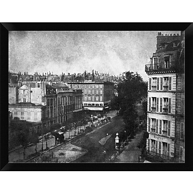 East Urban Home 'The Boulevards of Paris May 1843' Framed Photographic Print; 12'' H x 16'' W