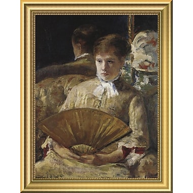 East Urban Home 'Portrait of a Lady 1877' Framed Oil Painting Print; 14'' H x 11'' W