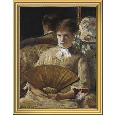 East Urban Home 'Portrait of a Lady 1877' Framed Oil Painting Print; 18'' H x 14'' W