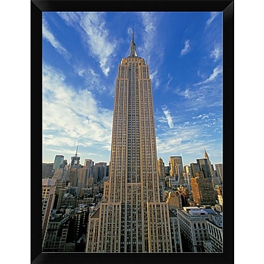 East Urban Home 'The Empire State Building New York City' Framed Photographic Print; 16'' H x 12'' W