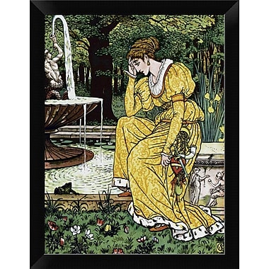 East Urban Home 'Frog Prince' Framed Graphic Art Print; 12'' H x 9'' W