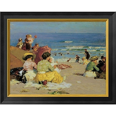 East Urban Home 'A Family Outing' Framed Oil Painting Print; 11'' H x 14'' W