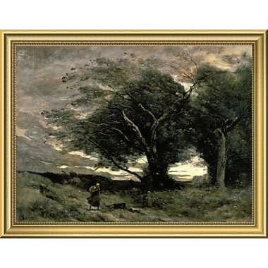 East Urban Home 'Gust of Wind' Framed Oil Painting Print; 14'' H x 18'' W