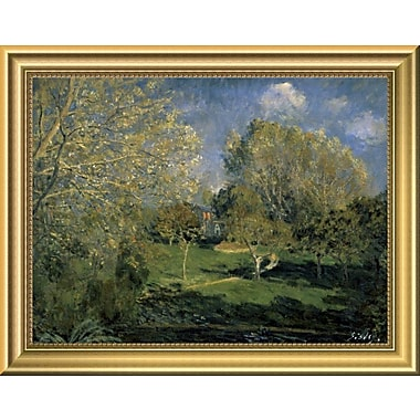 East Urban Home 'The Garden of Hoschede Family 1881' Framed Oil Painting Print; 11'' H x 14'' W