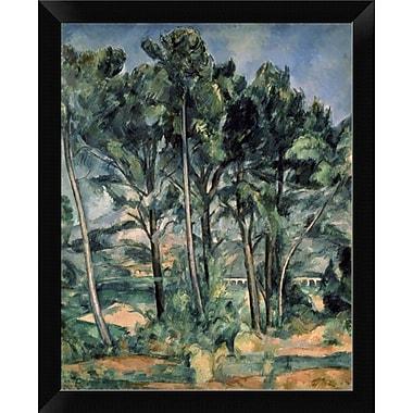 East Urban Home 'The Aqueduct Montagne Sainte-Victoire Seen Throug' Framed Oil Painting Print