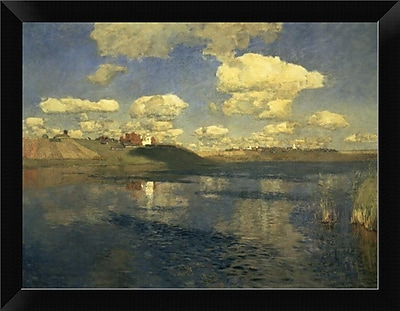 East Urban Home 'Lake Russia 1900' Framed Oil Painting Print; 9'' H x 12'' W