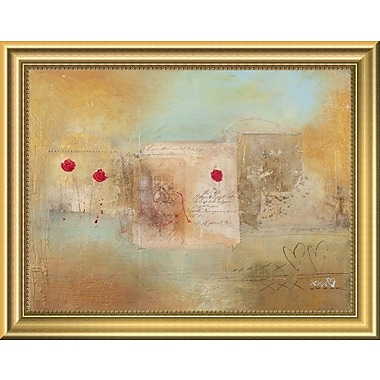 East Urban Home 'Roses for You' Framed Painting Print; 11'' H x 14'' W