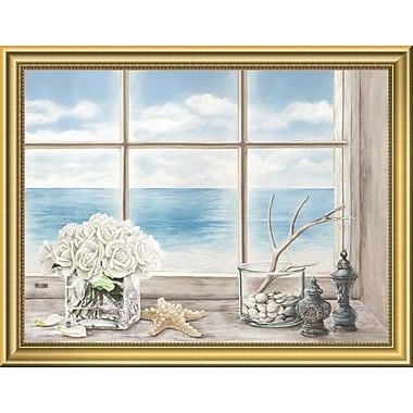 East Urban Home 'Memories of the Ocean' Framed Oil Painting Print; 14'' H x 18'' W