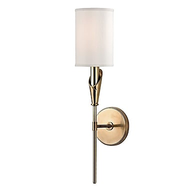 Brayden Studio Levan 1-Light Wall Sconce; Aged Brass