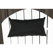 Charlton Home Lamothe Rectangular Adirondack Chair Outdoor Lumbar Pillow; Black