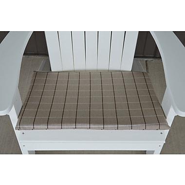Charlton Home Striped Fabric Outdoor Adirondack Chair Cushion; Tan