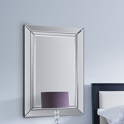 Rosdorf Park Rectangle Framed Wall Mirror w/ Hanging Hardware WYF078281443799