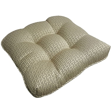 Gracie Oaks Mathilde Rattan Outdoor Wicker Lounge Chair Cushion (Set of 2)