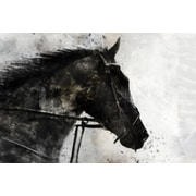 Union Rustic 'Horse Black' by Joshua Acrylic Painting Print on Wrapped Canvas
