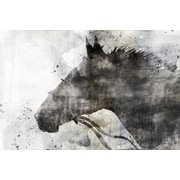 Union Rustic 'Horse Gray' by Joshua Acrylic Painting Print on Wrapped Canvas