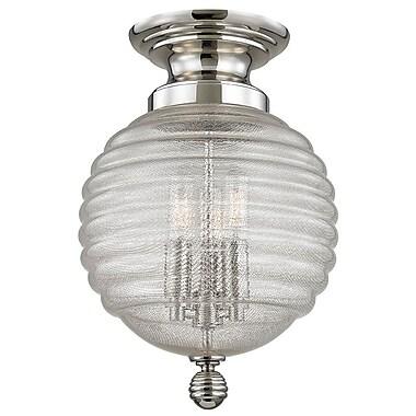 Brayden Studio Lazo 14.5'' Table Lamp; Polished Nickel