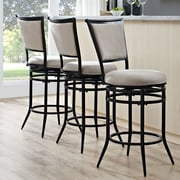 Darby Home Co Massena 40.5'' Swivel Counter Bar Stool; White
