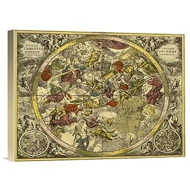 'Maps of the Heavens: Coelistellati Christianihaemi' Watercolor Painting Print on Canvas