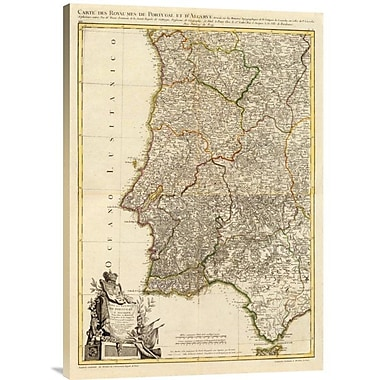 East Urban Home 'Composite: Portugal, Algarve, 1780' Watercolor Painting Print on Canvas