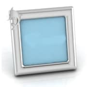 Harriet Bee Sterling Silver Dolphin Square Picture Frame; Blue