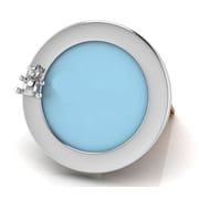 Harriet Bee Sterling Silver Round Teddy Picture Frame; Blue