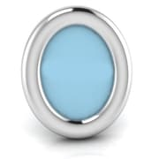 Harriet Bee Sterling Silver Classic Oval Picture Frame; Blue
