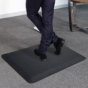 Latitude Run Delmore Standing Desk Kitchen Mat; Black
