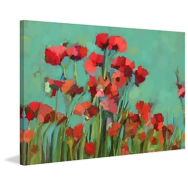 Red Barrel Studio 'Poppies II' Painting Print on Wrapped Canvas; 30'' H x 45'' W