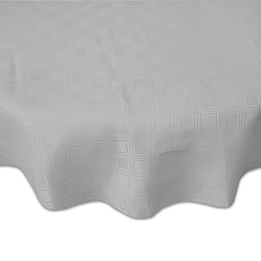 Red Barrel Studio Eleanora Spill Proof Fabric Tablecloth; Silver