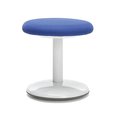 OFM Orbit Student Height Curved-base Active Stool 14 Inch High - Fabric Blue (2814-ATV-BLU)
