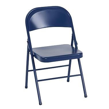Cosco - Chaise pliante, tout en acier, bleu marine, paq./2 (14715NVY2E)