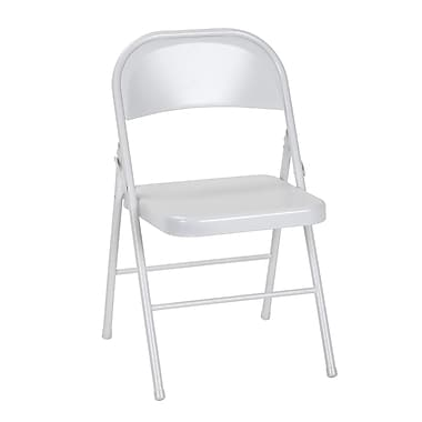 Cosco All Steel Folding Chair, White, 4/Pack (14715WHT4E)