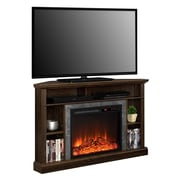 "Ameriwood Overland Electric Corner Fireplace for TVs up to 50"" Wide, Espresso"