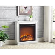 Ameriwood Bruxton Simple Fireplace, White