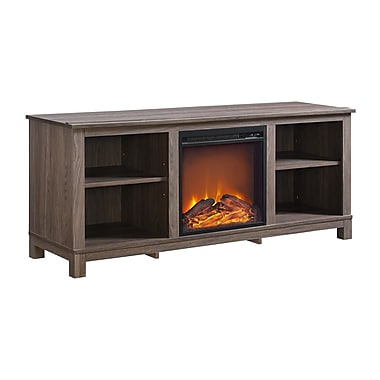 Ameriwood Edgewood TV Console with Fireplace for TVs up to 60