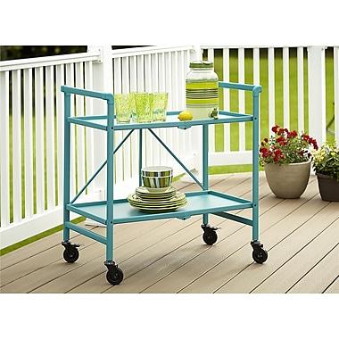 Cosco Indoor / Outdoor Folding Serving Cart, Teal